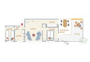 Grundriss der Ferienwohnung Dünenmond