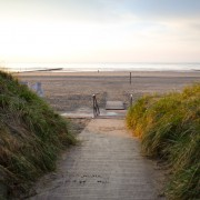 Zugang zum Strand bei der SonnenDüne