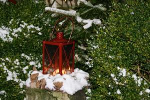 Weihnachtsschmuck Laterne 2015 Ferienwohnung auf Norderney
