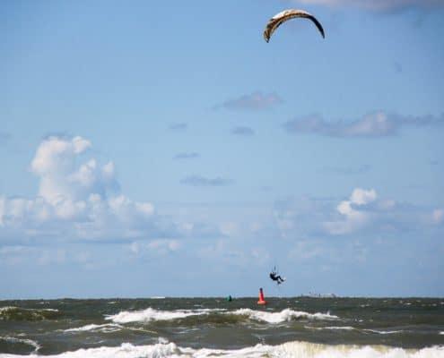 kitesurfer auf norderney